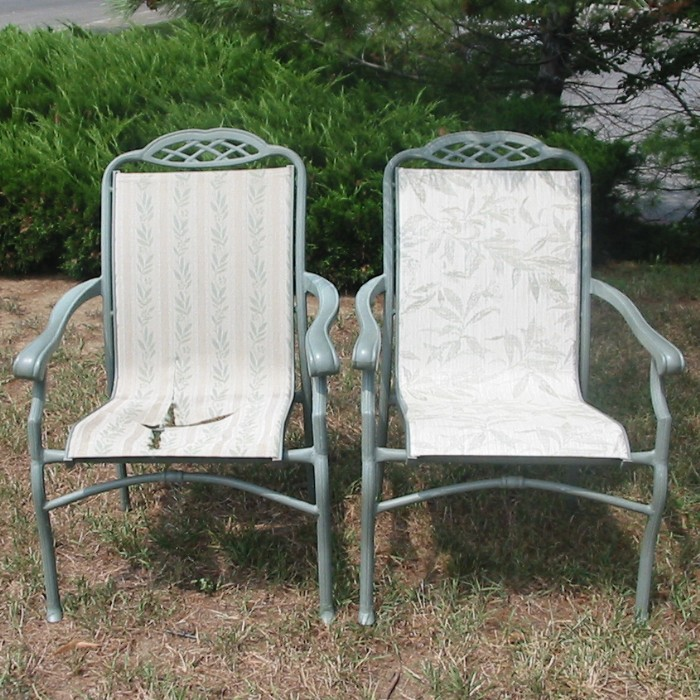 Vinyl Lawn Chair Webbing Replacement ... replacement f2 201 white textilene 2x2 patio sling fabric replacement