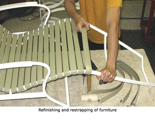 Patio Furniture Strap Furniture Refinish Restrap